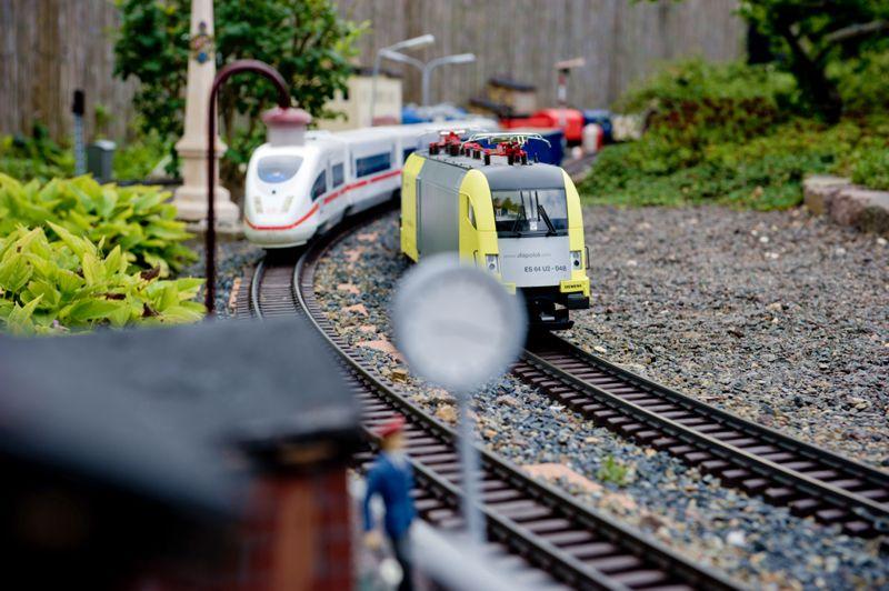 Bahnstrecke im Erlebnisgarten