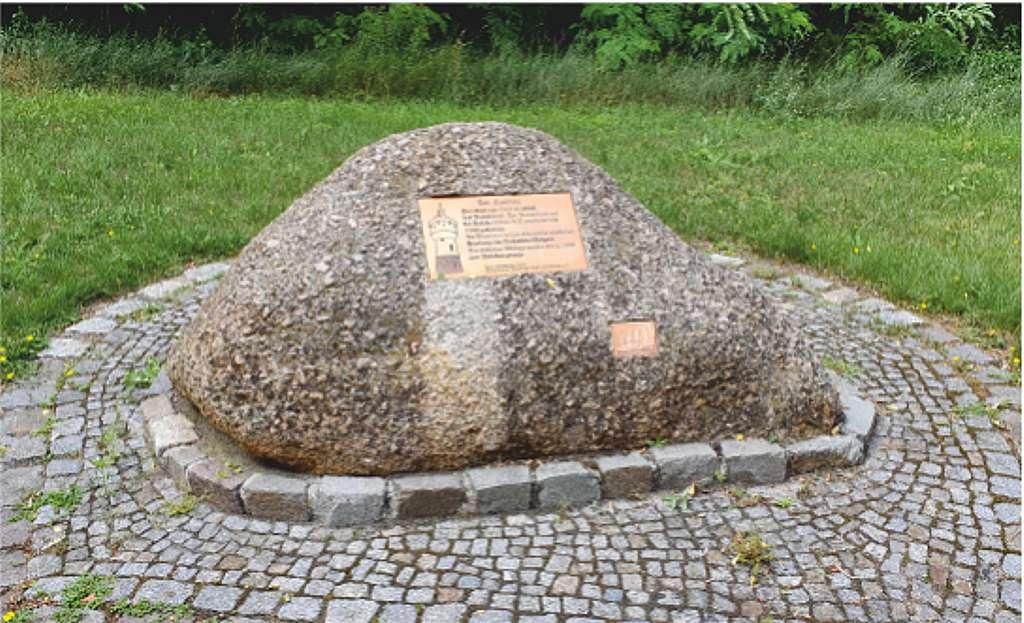 Gedenkstein für einen 1943 ermordeten polnischen Zwangsarbeiter