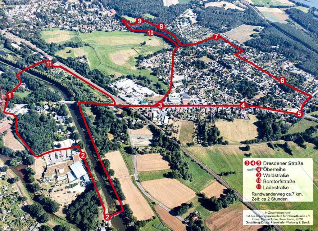 Übersichtskarte Rundwanderweg