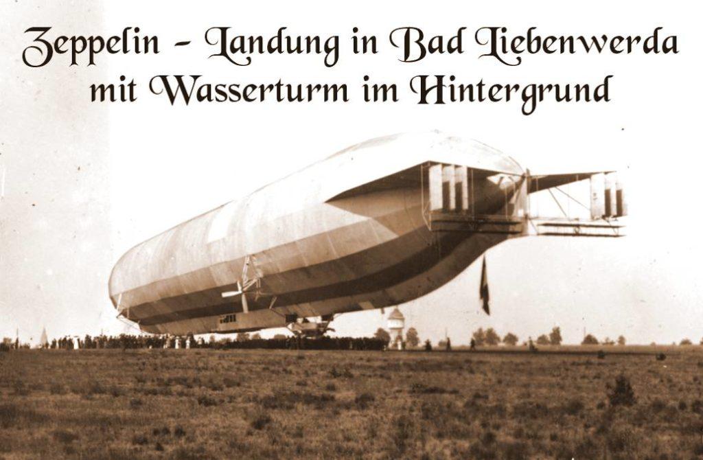 Zeppelin Landung - Bad Liebenwerda 1914